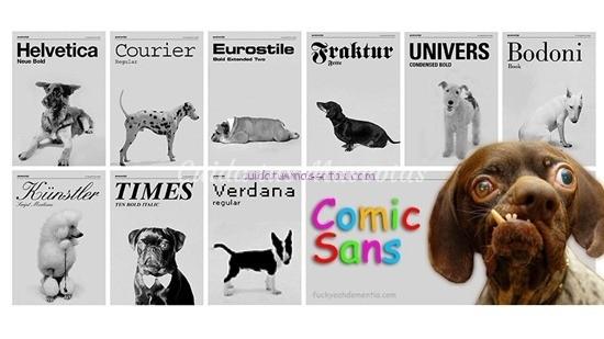 tipos de letras como perros
