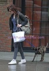 Kristen Stewart Taking Her New Dog For A Walk