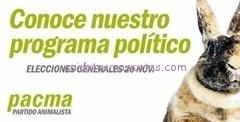 programa electoral PACMA